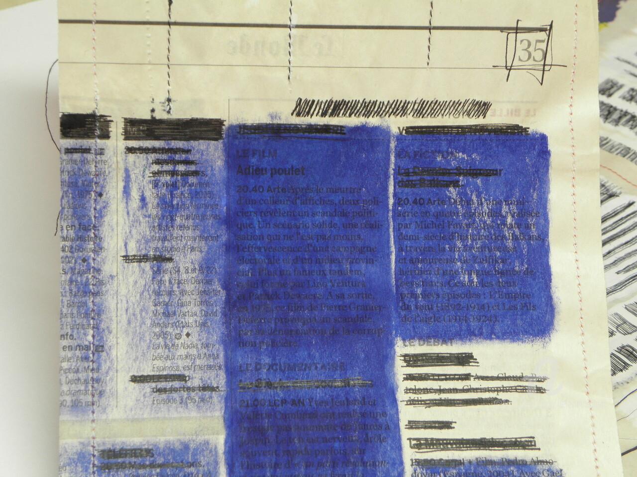 Hélène Mongin - Livre-Journal Bleu (détail 4)