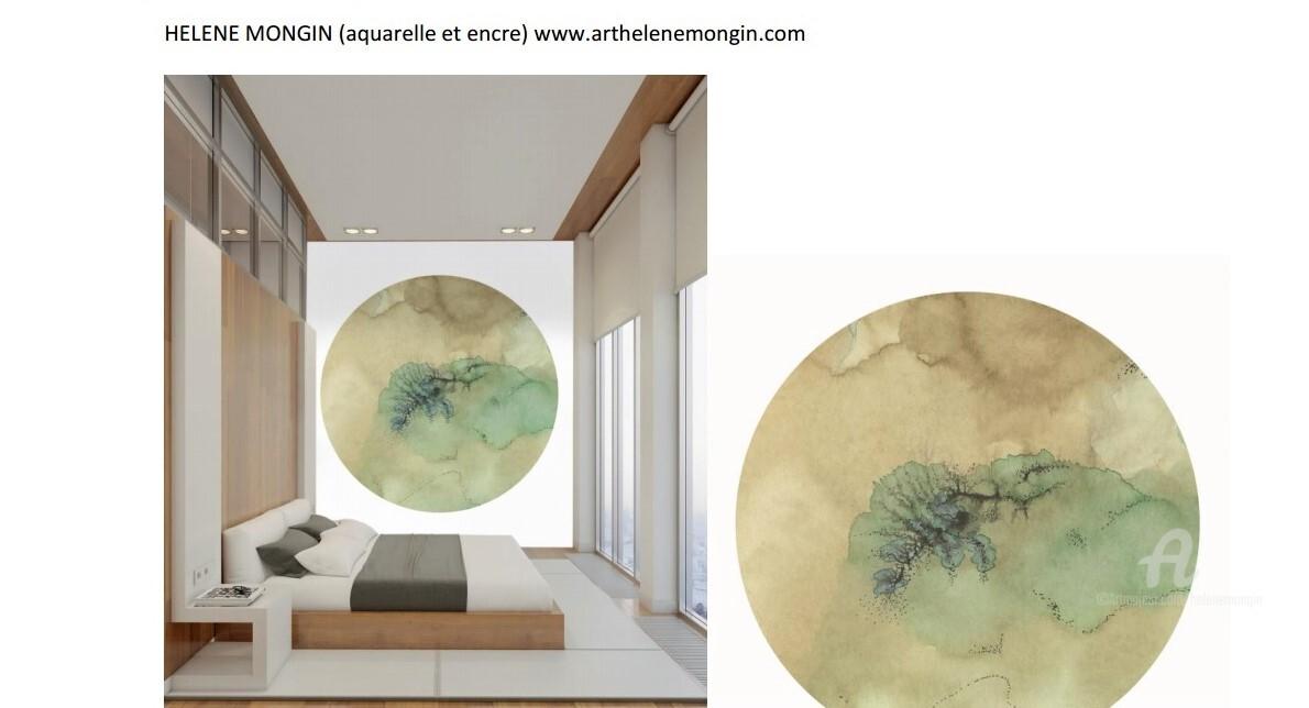 Hélène Mongin - Papier-peint Labo-Léonard HM1/ édition limitée