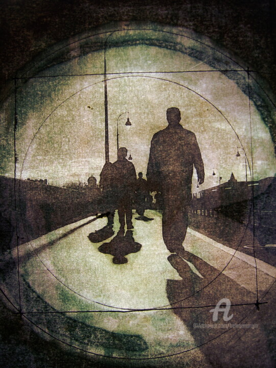Silhouettes sur le pont de Toulouse