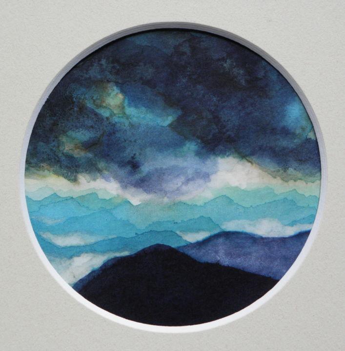 Paysage de Montagnes et Nuées_rond_bleu06