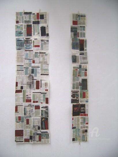 Livres journal tentures (2) vue de l'installation