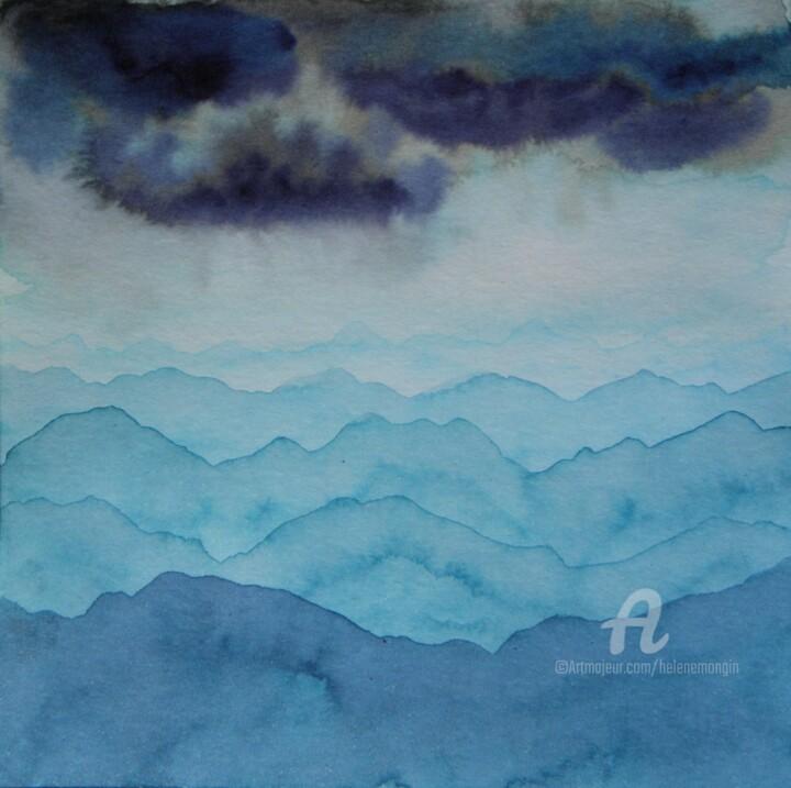 Paysage de montagnes et ciel d'encre 02