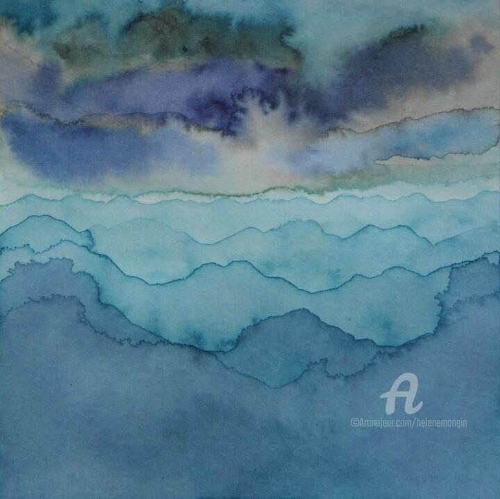 Paysage de montagnes et ciels d'encre 03