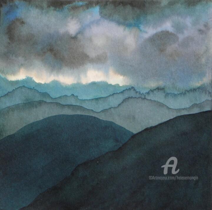 Paysage de montagnes et nuées 04