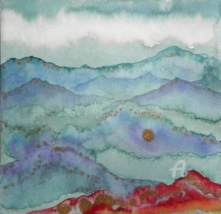Paysage de montagne et ciels d'encre 05