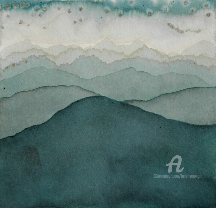 Paysage de montagnes et ciels d'encre 06