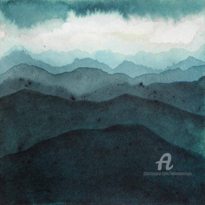 Paysage de montagnes et ciels d'encre 07