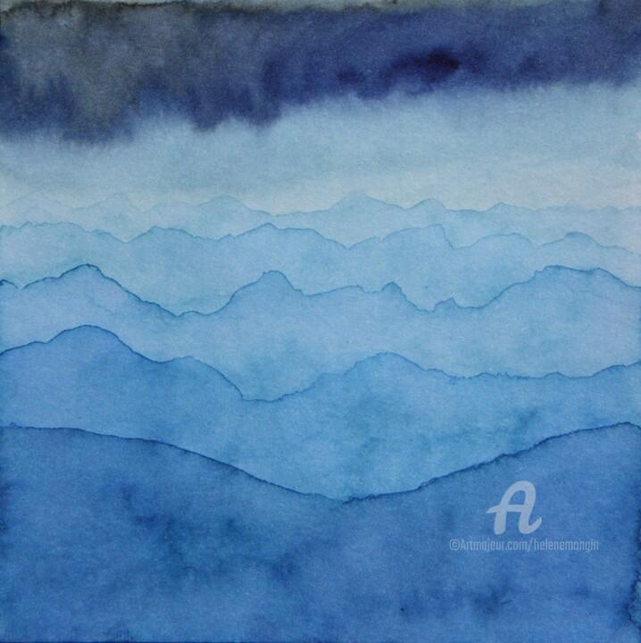 Paysage de montagnes et ciel d'encre 08