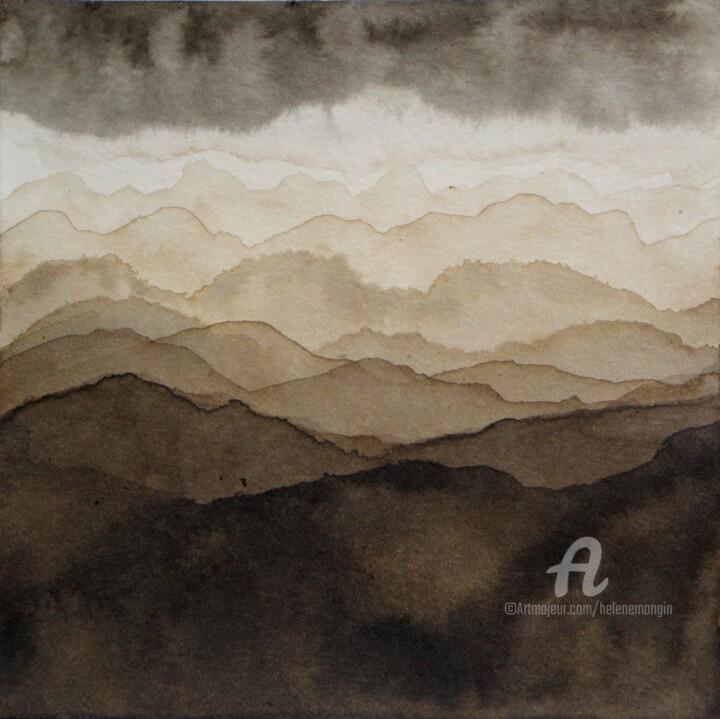 Paysage de montagnes et ciel d'encre 09