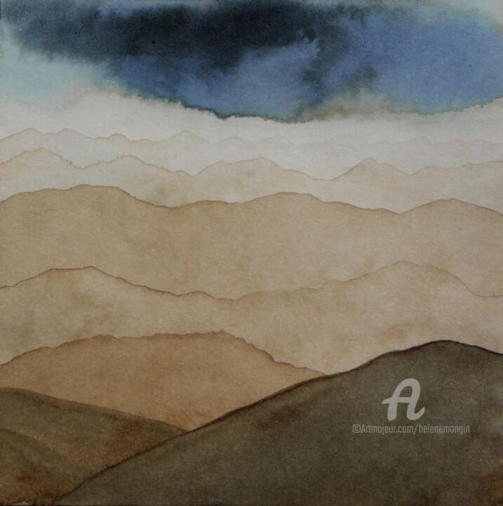 Paysage de montagnes et ciel d'encre 10