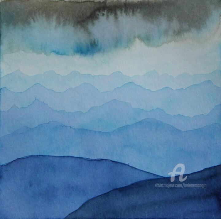 Paysage de montagnes et ciel d'encre 11