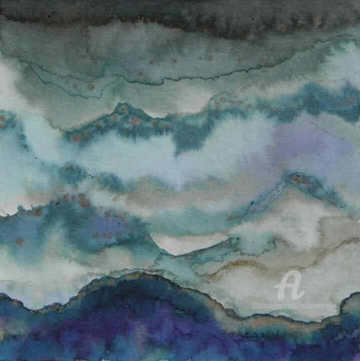 Paysage de montagnes et ciel d'encre 12