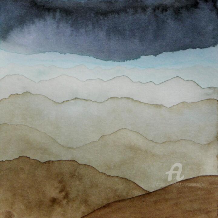 Paysage de montagnes et ciel d'encre 13