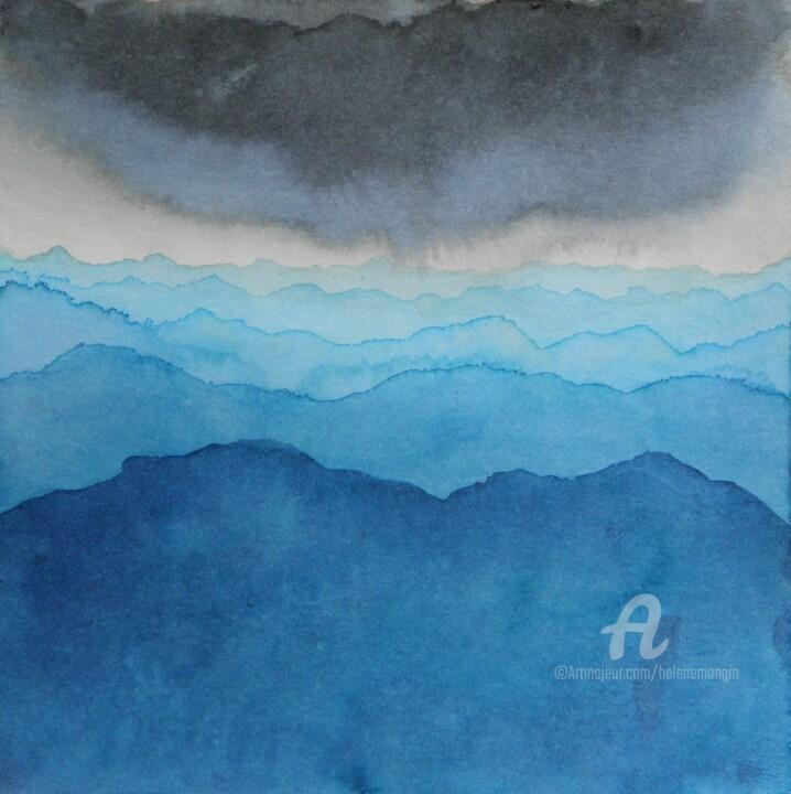 Paysage de montagnes et ciel d'encre 14