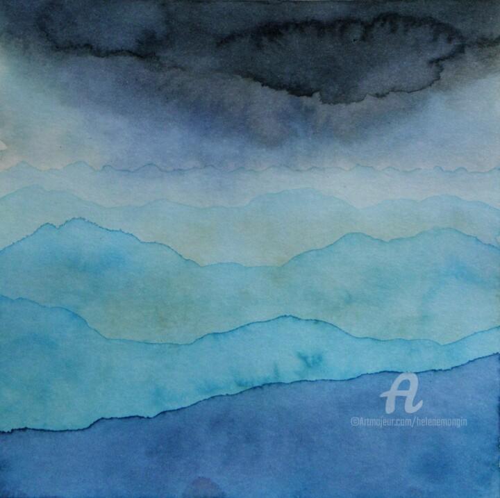 Paysage de montagnes et ciel d'encre 15