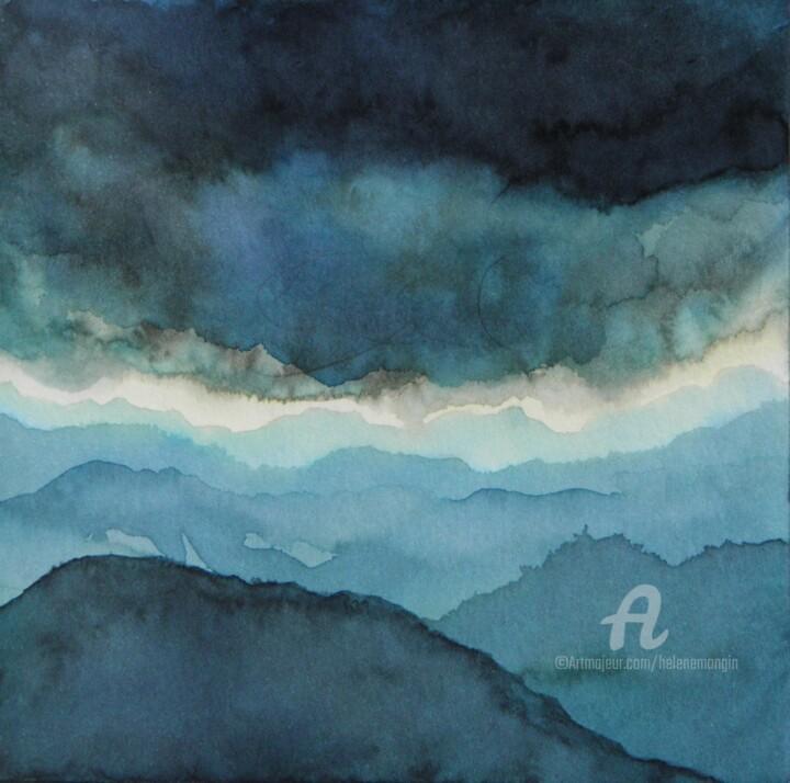Paysage de montagnes et ciel d'encre 16