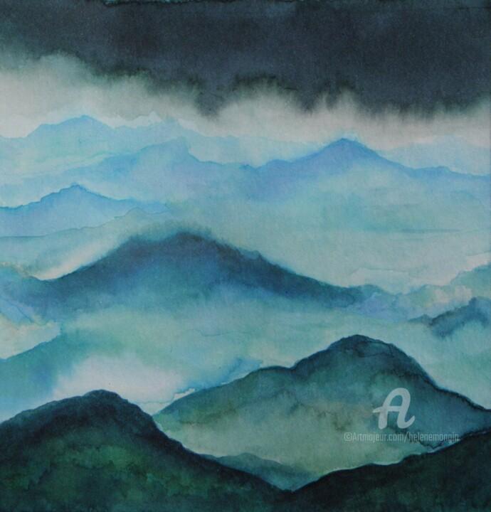 Paysage de montagnes et nuées 18