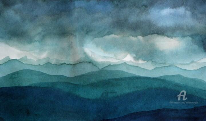 Paysage de montagnes et nuées 26