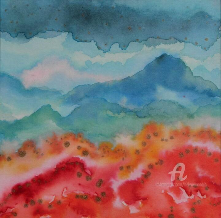 Paysage de montagnes et nuées 22